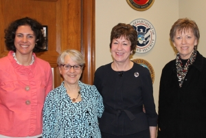 The Maine delgation led by Janet Henry of Maine Philanthropy Center meets with Senator Susan Collins.